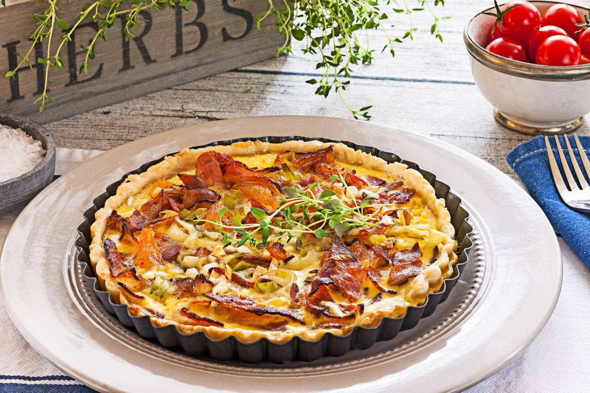 Baconpai med cottage cheese bakelyst for Med cottages