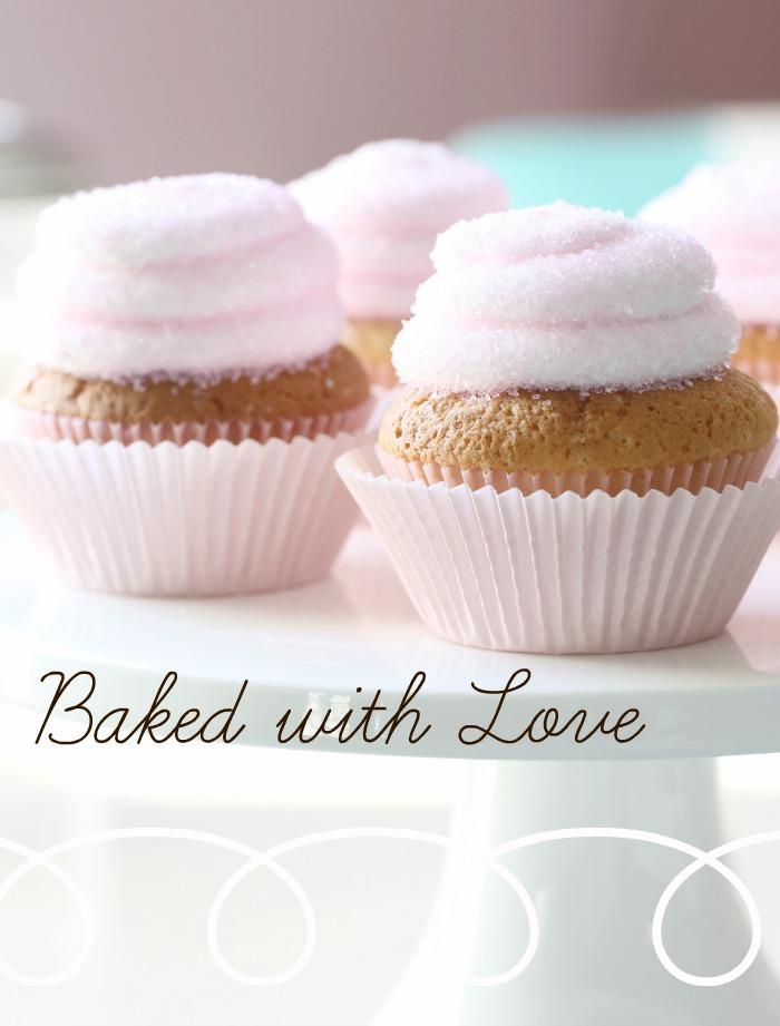 Sitroncupcake med rosa sukker