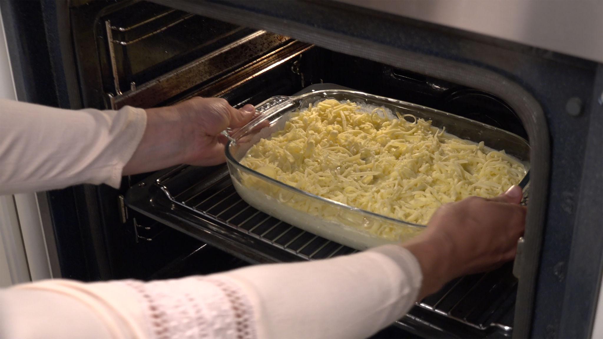 Fløtegratinerte poteter 07