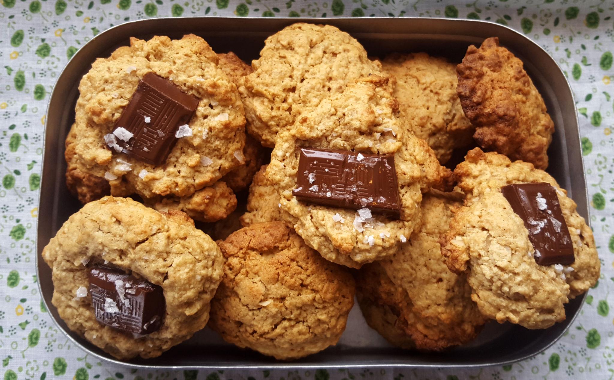 Havrekjeks med sjokolade
