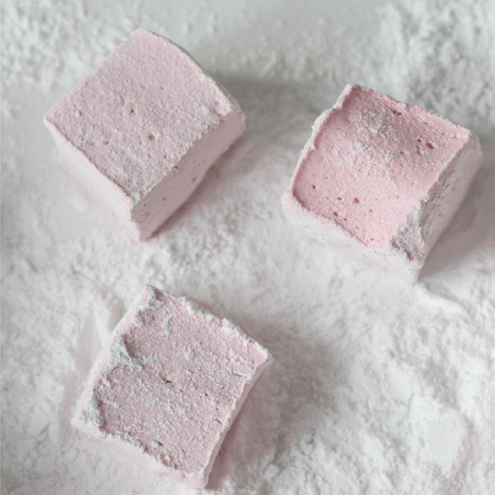 Marshmallows med bringebær