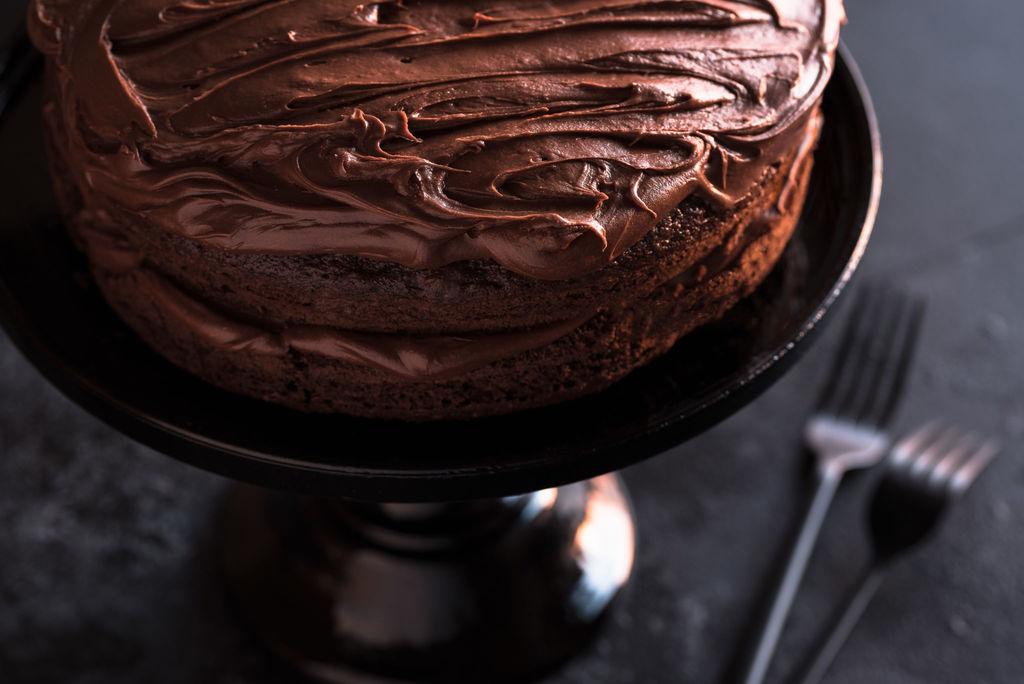 Er du like glad i sjokolade som oss vil du elske denne saftige franske sjokoladekaken. Foto: iStock