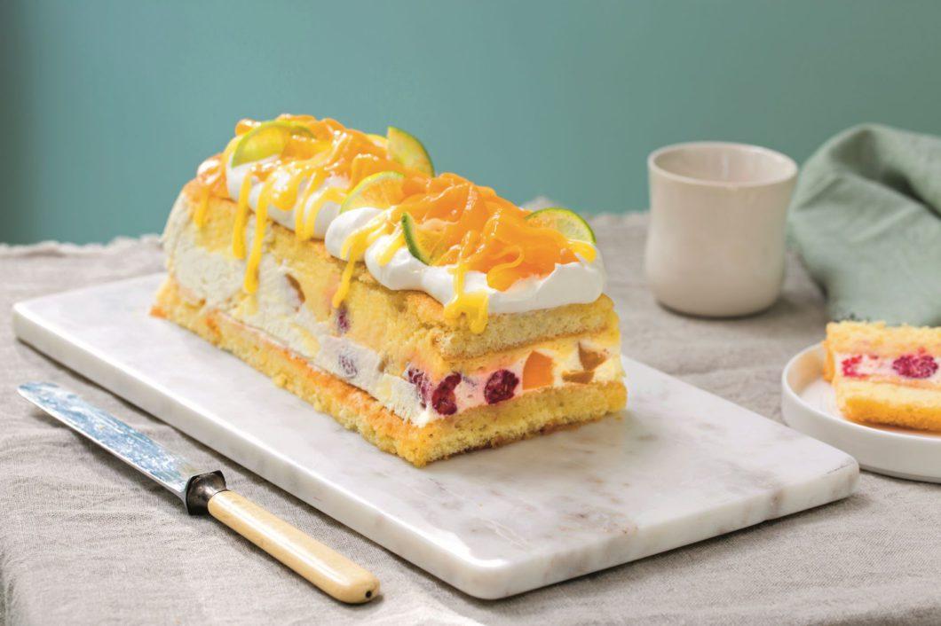 Peach Melba kake (Foto: Nadin Martinuzzi/Sentralen)